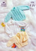 King Cole Baby Sweater, Jacket & Cardigan Big Value Knitting Pattern 2796  4 Ply
