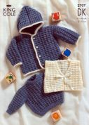 King Cole Baby Sweater, Jacket & Gilet Big Value Knitting Pattern 2797  DK