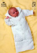 King Cole Baby Sweater, Jacket & Sleeping Bag Comfort Knitting Pattern 2823  DK