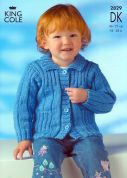 King Cole Childrens Jacket & Sweaters Big Value Knitting Pattern 2829  DK