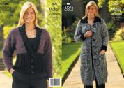 King Cole Ladies Jacket & Coat Fashion Knitting Pattern 2837  Aran