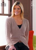 King Cole Ladies Sweaters Smooth Knitting Pattern 2856  DK