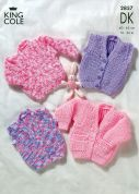King Cole Baby Cardigan & Waistcoat Big Value Knitting Pattern 2857  DK