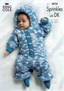 King Cole Baby Onesie, Jacket & Hat Knitting Pattern 2878
