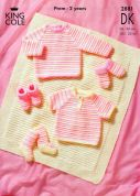 King Cole Baby Sweaters, Blanket & Accessories Big Value Knitting Pattern 2881  DK