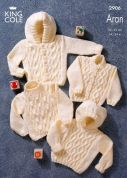 King Cole Baby Sweaters & Jackets Big Value Knitting Pattern 2906  Aran