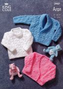 King Cole Baby Sweater, Jacket & Cardigan Big Value Knitting Pattern 2907  Aran