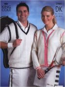 King Cole Ladies & Mens Sports Cardigan & Slipover Knitting Pattern 2941  DK