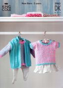 King Cole Baby Sweaters & Gilet Big Value Knitting Pattern 2963  DK