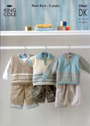 King Cole Baby Sweaters Big Value Knitting Pattern 2964  DK