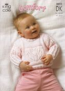 King Cole Baby Sweaters & Blanket Comfort Knitting Pattern 3012  DK