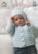 King Cole Baby Jacket, Sweater & Body Warmer Comfort Knitting Pattern 3013  DK