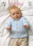 King Cole Baby Jacket, Sweater & Slipover Comfort Knitting Pattern 3014  DK