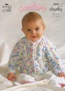King Cole Baby Jacket, Cardigan & Slipover Comfort Knitting Pattern 3042  Chunky