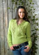 King Cole Ladies Cardigan & Slipover Bamboo Cotton Knitting Pattern 3068  DK
