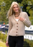 King Cole Ladies Cardigan & Bolero Fashion Knitting Pattern 3076  Aran