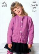 King Cole Girls Cardigan & Sweater Big Value Knitting Pattern 3082  DK