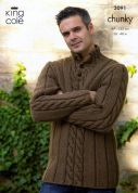 King Cole Mens Sweater & Tank Top Magnum Knitting Pattern 3091  Chunky
