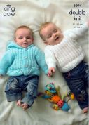 King Cole Baby Cardigan, Sweater & Hooded Jacket Big Value Knitting Pattern 3094  DK