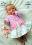King Cole Baby Cardigan, Sweater & Accessories Big Value Knitting Pattern 3096  DK