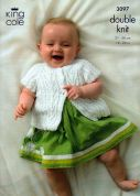 King Cole Baby Sweater & Cardigans Big Value Knitting Pattern 3097  DK