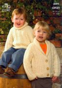 King Cole Childrens Sweater, Jacket & Accessories Fashion Knitting Pattern 3099  Aran