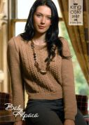 King Cole Ladies Sweater & Tunic Baby Alpaca Knitting Pattern 3107  DK