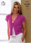 King Cole Ladies Cardigan & Bolero Smooth Knitting Pattern 3111  DK