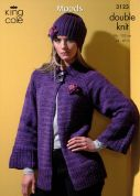 King Cole Ladies Jacket, Sweater, Top & Hats Moods Knitting Pattern 3123  DK