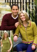 King Cole Ladies & Mens Sweater, Slipover & Jacket Merino Knitting Pattern 3128  DK