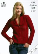 King Cole Ladies Jacket & Top Bamboo Cotton Crochet Pattern 3131  DK