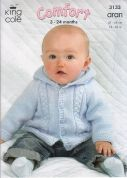 King Cole Baby Jackets Comfort Knitting Pattern 3133  Aran