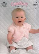 King Cole Baby Jacket, Bolero & Sweater Comfort Knitting Pattern 3134  Aran