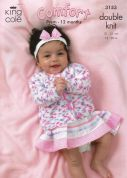 King Cole Baby Cardigans & Sweater Comfort Knitting Pattern 3153  DK