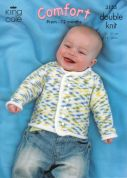 King Cole Baby Jackets & Bolero Comfort Knitting Pattern 3155  DK