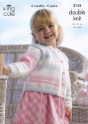 King Cole Girls Cardigan & Bolero Melody Knitting Pattern 3158  DK