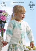 King Cole Girls Cardigan & Jacket Melody Knitting Pattern 3161  DK