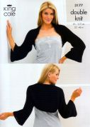 King Cole Ladies Cardigan & Shrug Bamboo Cotton Knitting Pattern 3177  DK