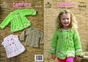 King Cole Childrens Sweater & Jacket Comfort Knitting Pattern 3179  Chunky
