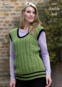 King Cole Ladies Cardigan & Tank Top Moods Knitting Pattern 3187  DK