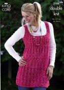 King Cole Ladies Cardigans, Dress & Hat Moods Knitting Pattern 3188  DK
