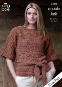 King Cole Ladies Tunic & Waistcoat Moods Crochet Pattern 3190  DK