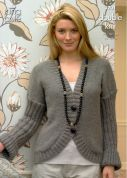 King Cole Ladies Cardigan & Bolero Baby Alpaca Knitting Pattern 3201  DK