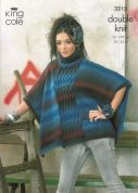 King Cole Ladies Jacket & Cape Riot Knitting Pattern 3215  DK