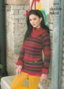King Cole Ladies Sweater, Top, Snood & Warmers Riot Knitting Pattern 3216  DK