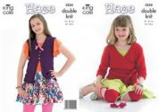 King Cole Girls Cardigans Knitting Pattern 3224  DK