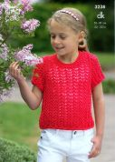 King Cole Childrens Tops Knitting Pattern 3238  DK