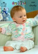 King Cole Baby Jackets, Hats & Blanket Cuddles Knitting Pattern 3239  Chunky