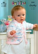 King Cole Baby Jackets & Pram Cover Cuddles Knitting Pattern 3241  Chunky