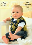King Cole Baby Cardigan, Waistcoat & Slipover Big Value Knitting Pattern 3248  Aran